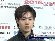 世界Jr.フィギュアスケート選手権2016男子フリー<フジバラナイト SAT> 20160319