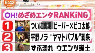 めざましテレビ 20170207