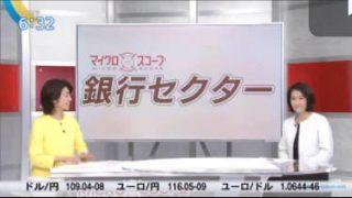 Newsモーニングサテライト【銀行株反転のきっかけは自社株買い】 20170418