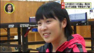 SPORTSウォッチャー▽卓球17歳の新女王・平野美宇に密着!世界卓球Vへ 20170520