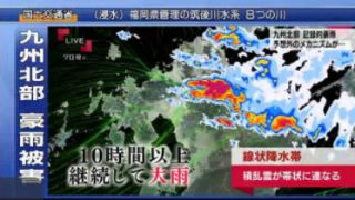 """クローズアップ現代+▽""""異常な""""豪雨が街を襲う~緊急報告 九州北部記録的豪雨~ 20170706"""