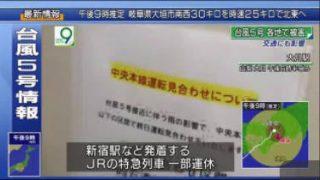 ニュースウオッチ9▽台風5号最新情報は▽密着!ミサイルめぐり北そして米中は 20170807