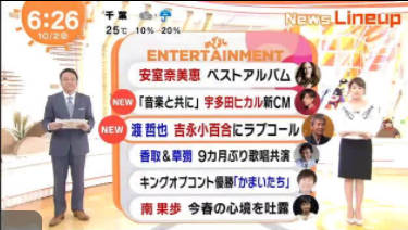 めざましテレビ 20171002