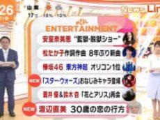 めざましテレビ 20171031