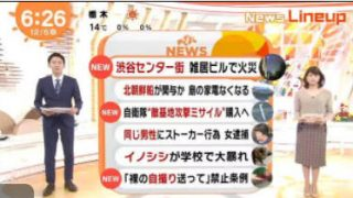 めざましテレビ 20171205