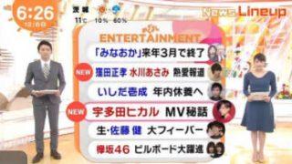 めざましテレビ 20171208