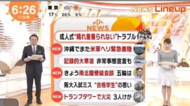 めざましテレビ 20180109