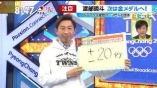 ビビット 小平・高木W表彰台 複合渡部&スノボ平野は2大会連続銀 20180215