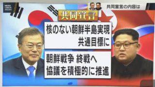 ニュースチェック11 南北首脳会談共同宣言「完全な非核化が共同目標」 20180427