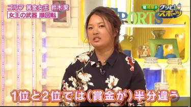 グッと!スポーツ「愛される賞金女王 ゴルフ 鈴木愛」 20180501