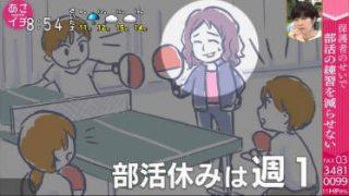あさイチ「子どもの部活とどう向き合う?」 20180509