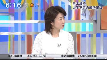 Newsモーニングサテライト【JAL・ANA両社長に大浜キャスター直撃】 20180516